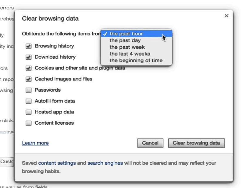 How to Clear Cookies in Google Chrome: